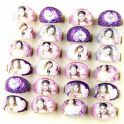 Brand New 20pcs Mix VIOLETTA Kids Cartoon Resin Jewelry Rings Party Bag Fillers