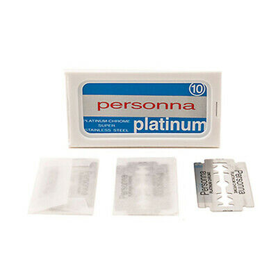 Personna Platinum Swedish Steel Double Edge DE(Pack of 10 Blades)-Made in Israel