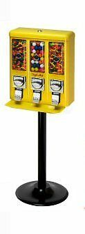 Triple Shop Gumball & Candy Machine - YELLOW