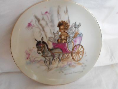 Vintage Rare Brownie Downing Plate With Donkey & Cart