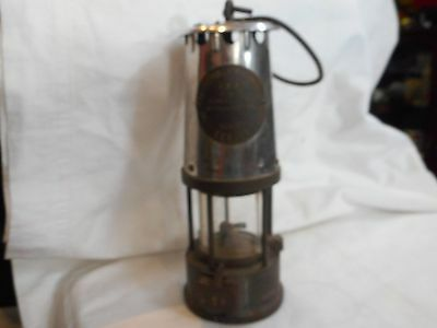 Vintage Metal & Brass Eccles Miners Safety Lamp