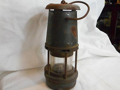 Vintage Metal & Brass The Wolf Miners Safety Lamp