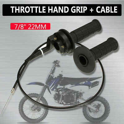 "22mm 7/8"" Twist Throttle Housing Tube Hand Grip Cable ATV Quad Dirt Pit Pro Bike"
