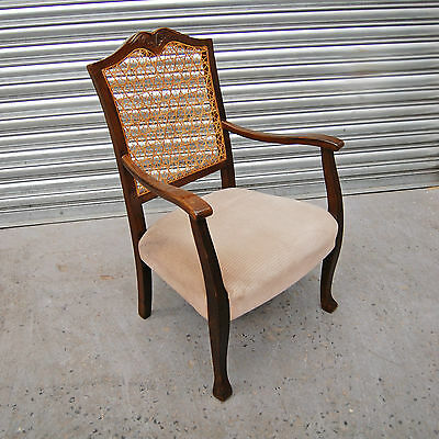 1930s English Cane back decorative armchair