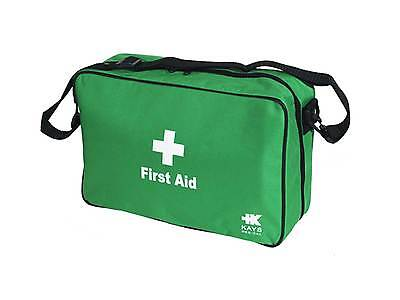 Green First Aid Bag Empty Shoulder Green Paramedic Home Travel Family Work