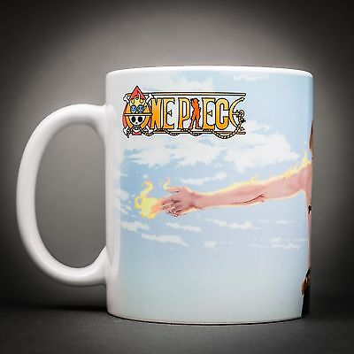 One Piece - Mug Tasse Cafe - 325 Ml - Portgas Ace Flamme Luffy Manga Anime.