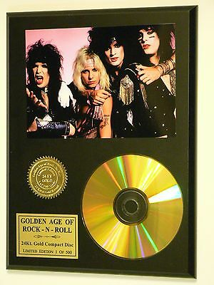 Motley Crue - 24k Gold CD Display Rare Limited Edition - USA Ships Free