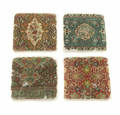 Set 4 French Shabby Chic Ceramic Tile Coasters Liberty Print Vintage Style NEW