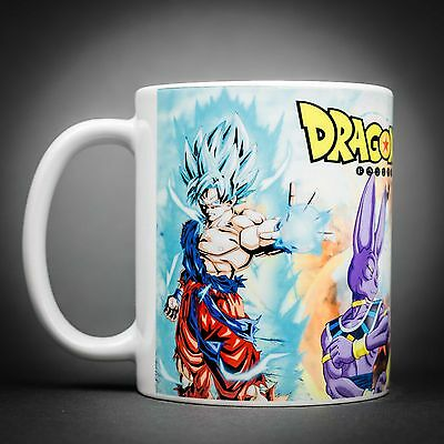 Dragon Ball Super - Mug Tasse Cafe - 325 Ml - Sangoku Vegeta Bills Manga Anime.