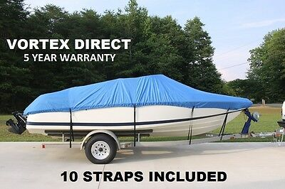 New Vortex Heavy Duty Fishing/ski/runabout/boat Cover 14-16' Blue
