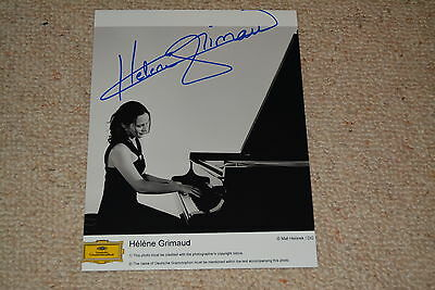 HELENE GRIMAUD  signed autograph In Person 8x10 ( 20x25 cm) PIANIST