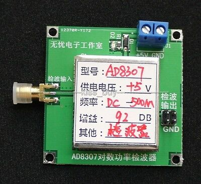 AD8307 1MHz TO 500MHz wideband RF detector RF power meter ALC AGC Strength Meter