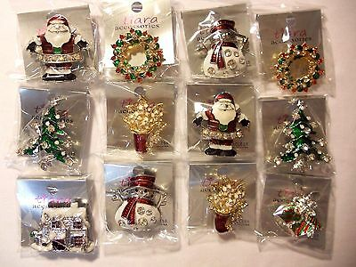 12 pcs Brooch/pin  for Christmas pretty Vintage wholesale Lot.