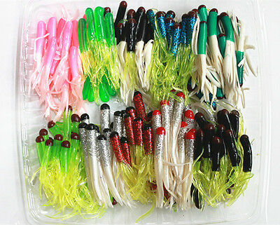 100pc assortment of bass fishing worms,lures,soft plastic baits, Soft Baits