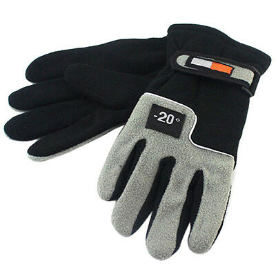 1Pair Men Thermal Winter Gloves Windproof Motorcycle Ski Snow Snowboard Mittens