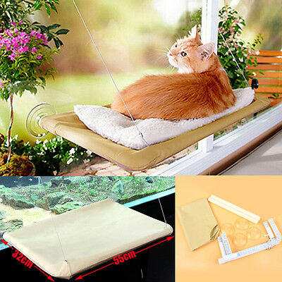 Cat Window Mounted Bed Seat Pets Sunny Hammock Wall Beds Cover Washable Home AU