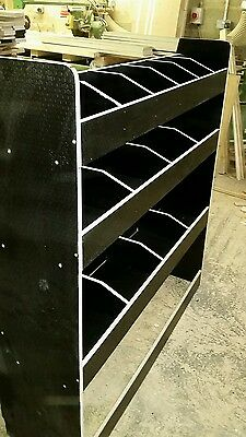 Ford Transit Custom Delux Racking in a Black Tough finish Ref 007