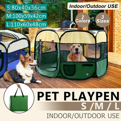 Pet Soft Playpen Dog Cat Fence Exercise Crate Puppy Play Pen Enclosure Cage Tent