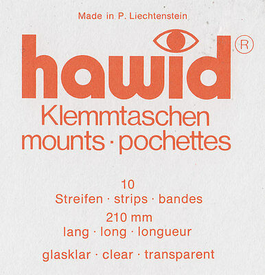 Hawid Stamp mounts CLEAR 21mm - 86mm /  210mm strip packs. Multi selection..