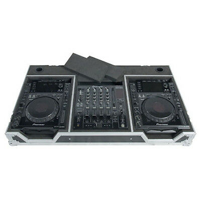 "Pioneer CDJ & 12"" Mixer DJ Coffin Flight Case CDJ2000 / DJM900 Gemini CD Player"