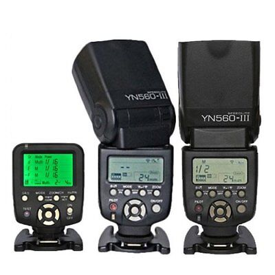 Yongnuo YN560-TX Wireless Controller + 2PCS YN-560 III Flash for Nikon Camera UK