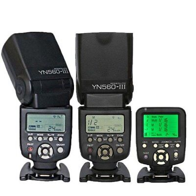 Yongnuo YN560-TX Wireless Controller + 2PCS YN-560 III Flash for canon Camera UK