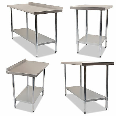 Stainless Steel Professional Catering Food Preparation Industrial Work Top Table