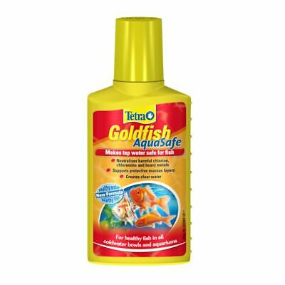 Tetra Aquarium Goldfish Aquasafe 100Ml Tap Water Safe Conditioner Treatment Tank