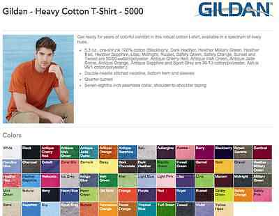 100 Gildan T-Shirts is ok to mix S-XL & Colors Wholesale lots 50