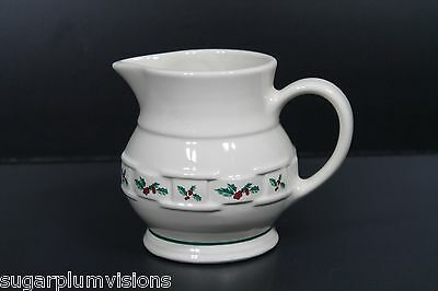 Longaberger TRADITIONAL HOLLY: CREAMER (31577) - New in Box