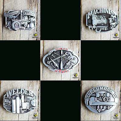 Farmer machinist plumber welder mechanic trade belt buckles