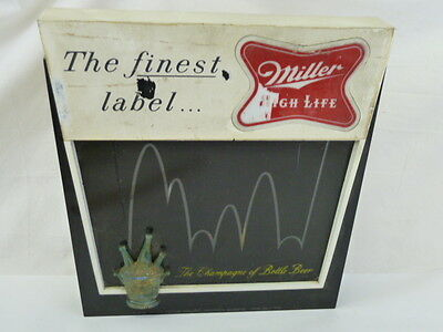 Vintage Miller High Life Beer Sign Bouncing Ball Light Motion Bounce Lighted Bar