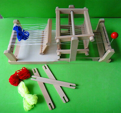 Classic Traditional wooden table weaving loom Machine Model Hand Craft Wood Toy