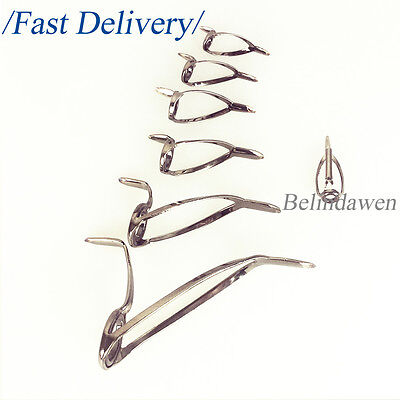 Set 7Pcs Mixed 7 Sizes Casting Spinning Fishing Rod Guides Kit Building Repair