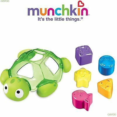 Munchkin Turtle Bath Shape Sorter Toy, Includes 5 Colourful Shapes for Playtime