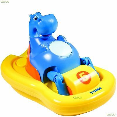 Tomy Aqua Fun Hippo Pedlo Bath Time Toy, Hums a Fun Tune While Pealing
