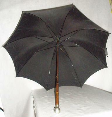 *antique Hallmarked Brigg 'golfing' Umbrella-Pencil Insert-Bamboo*