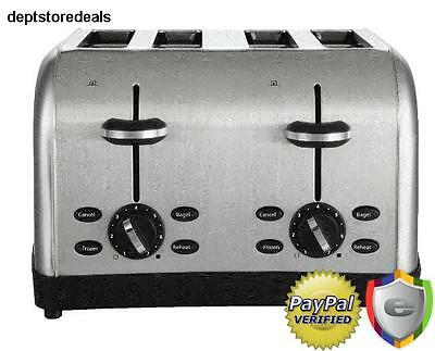 Kitchen Toaster 4 Slice Commercial Restaurant Style Bread Automatic Bagel Reheat