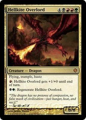 HELLKITE OVERLORD Shards of Alara MTG Gold Creature — Dragon MYTHIC RARE