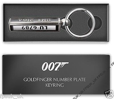 Official James Bond 007 Skyfall Aston Martin Db5 Number Plate Keyring Bnib New