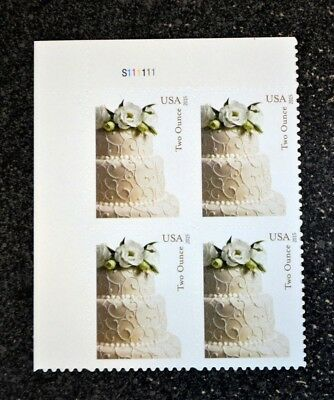 2015USA #5000 71c Wedding Cake Plate Block of 4  -  Mint  two ounce