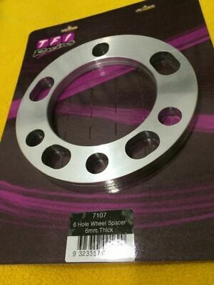 Pair 6 stud 6 mm Slip on Wheel spacer CNC billet Aluminium Oz made TFI 7107