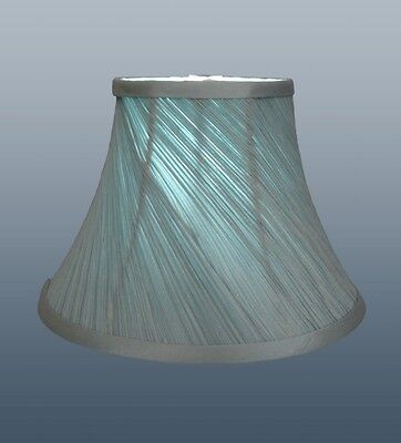 "Brand New 12"" Twisted Pleat Lampshade In Beautiful Duck Egg Colour Fabric"