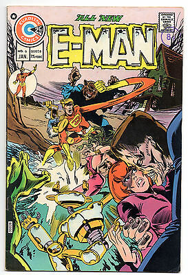 E-Man No 6 Jan 1975 (VFN) Charlton Comics, Bronze Age (1970 - 1979)