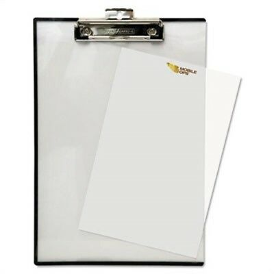 """Quick Reference Clipboard, 1/2"""" Capacity, 8 1/2 x 11, Clear"""