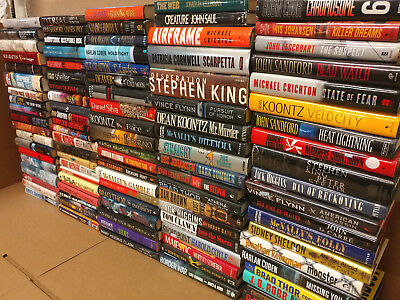Lot of 100 Mystery Suspense Thriller Crime Murder Detective Hardcover HB Books