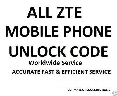 1-6HR Service UNLOCK CODE ALL ZTE Z740g Cricket USA ZMax Z777 Z995 AT&T MetroPCS