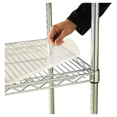 Shelf Liners For Wire Shelving, 36w x 18d, Clear Plastic, 4/Pack