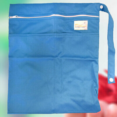 Large Waterproof Two Pockets Zipper Wet Bag for Cloth Nappies & Swimmers
