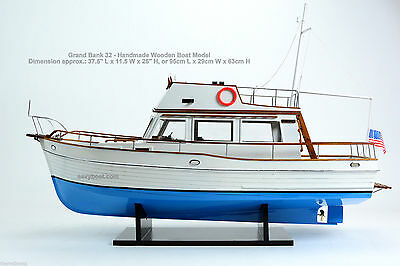 Grand Banks 32 - Handmade Wooden Boat Model - Ready to display